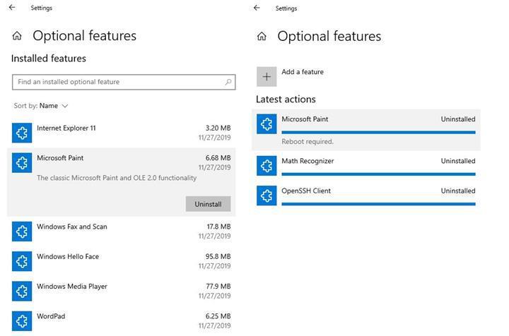 Windows 10'da Paint ve WordPad artık sistemden kaldırılabilecek