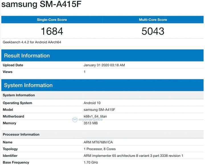 Samsung Galaxy A41 modeli Helio P65 ile gelecek