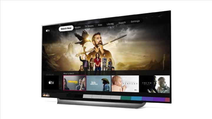 2019 LG akıllı televizyon modelleri Apple TV uygulamasına kavuştu
