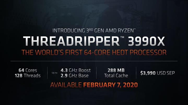 Ryzen Threadripper 3990X GeekBench'te tüm işlemcilerin önünde