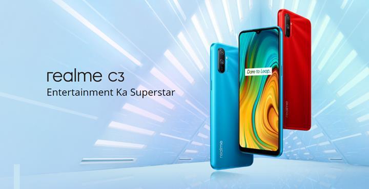 Bütçe dostu Realme C3 tanıtıldı: 6.5 inç ekran, 5.000 mAh pil, Android 10