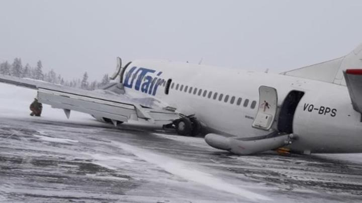 UTair'e ait bir Boeing 737 kaza yaptı!