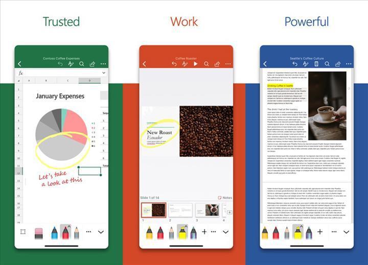 Microsoft, iOS için yeniden tasarladığı Word, Excel ve PowerPoint uygulamalarını yayınladı
