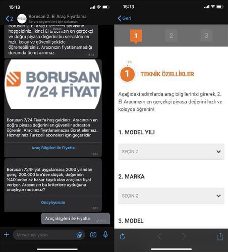 Borusan Araç İhale'den 2. el araç fiyatlandırma hizmeti: Borusan 7/24 Fiyat