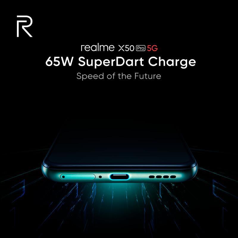 Realme X50 Pro, 65W SuperDart hızlı şarj teknolojisi ile gelecek