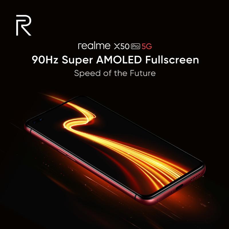Realme X50 Pro, 90 Hz Super AMOLED ekrana sahip olacak