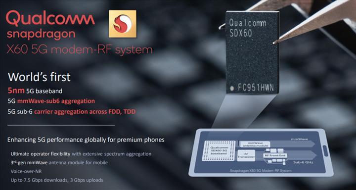 Qualcomm Snapdragon X60 5G modeli gelecek yıl piyasada olacak