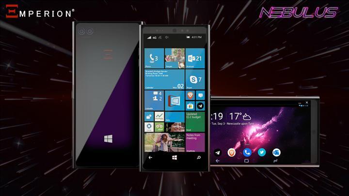 Hem Android, hem de Windows 10 çalıştıran akıllı telefon geliyor: Emperion Nebulus