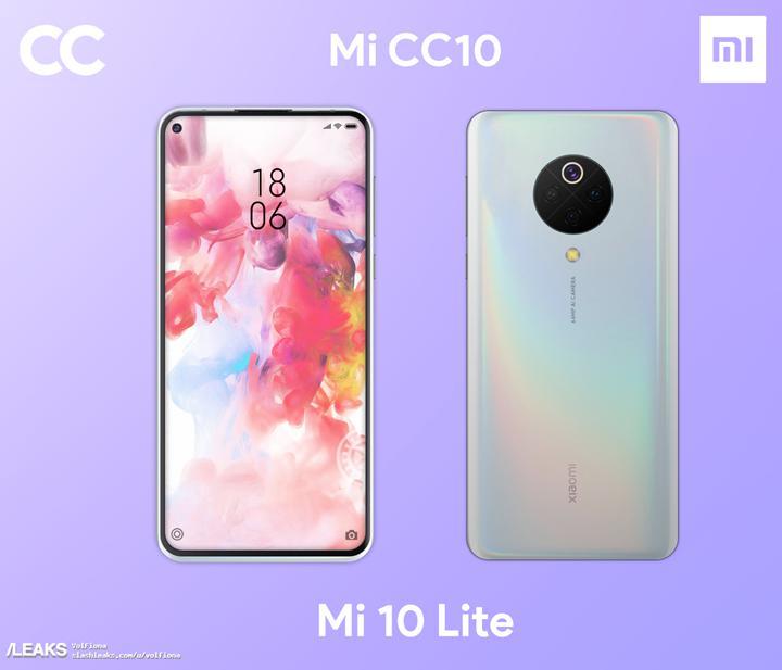 Xiaomi Mi 10 Lite'ın tasarımını gösteren ilk görseller internete düştü