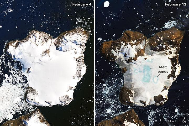Şubat ayı sıcak dalgası, Antarktika'da rekor sıcaklıklara neden oldu