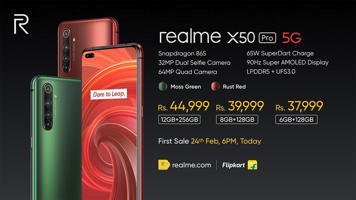 Realme X50 Pro 5G tanıtıldı: Snapdragon 865, 65W hızlı şarj, 12GB RAM