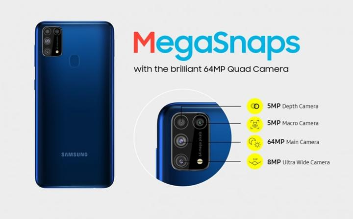 Samsung Galaxy M31 duyuruldu: 6.4 inç ekran, 6.000 mAh pil