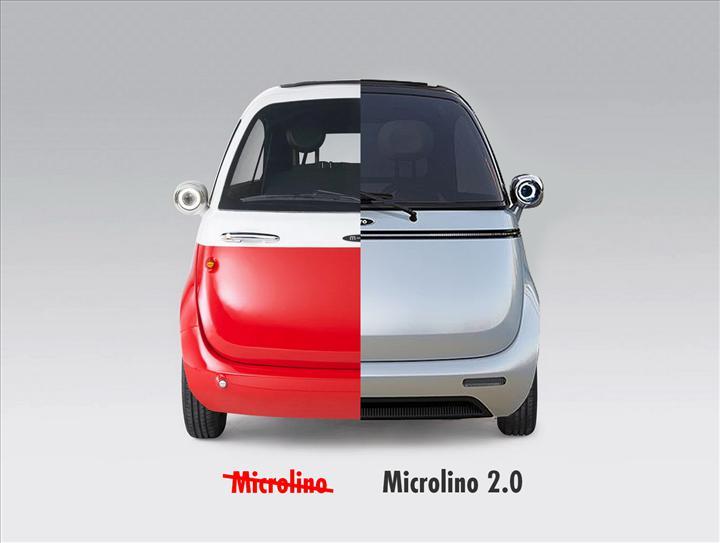 Kapısı önden açılan mini elektrikli araç yenilendi: İşte Microlino 2.0