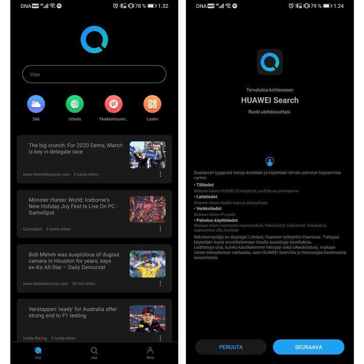 Huawei telefonlarda Google'ın yerini alacak arama uygulamasının ilk görüntüleri ortaya çıktı