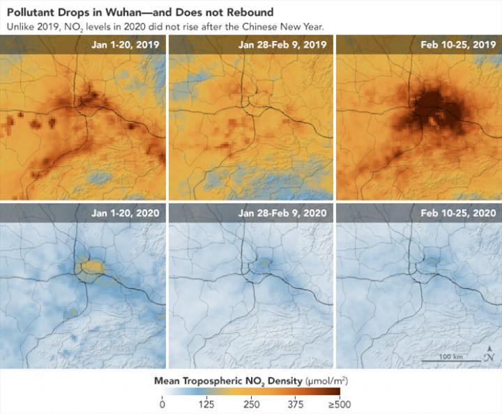 Koronavirüs salgını, Çin'deki hava kirliliği oranının azalmasına neden oldu