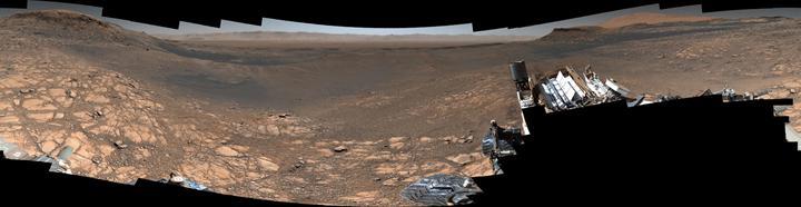 Curiosity'den tam 1,8 milyar piksellik müthiş Mars panoraması