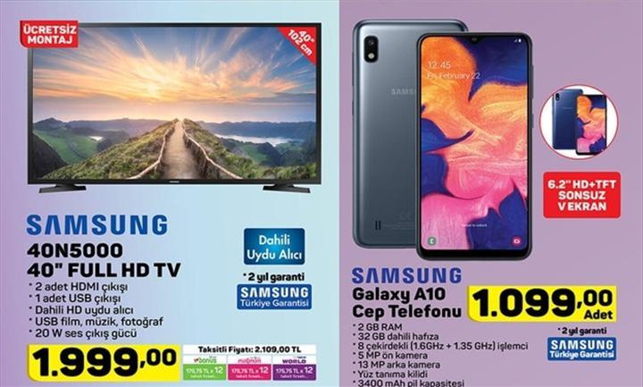 Haftaya A101 marketlerde uygun fiyata Galaxy A10 ve BİM marketlerde akıllı baskül var