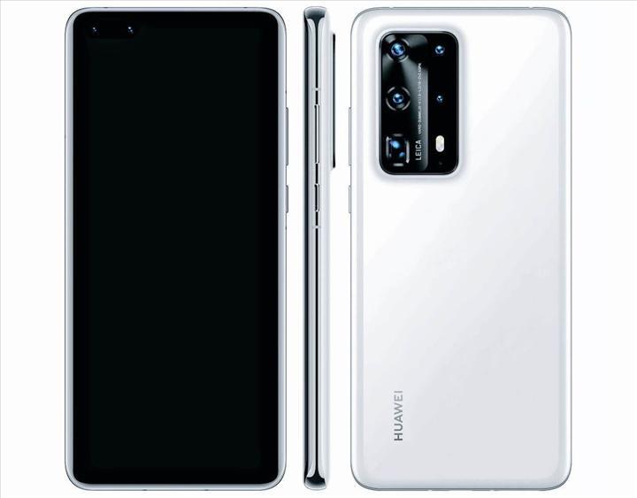 Huawei P40'ın lansman posteri üç ön kameraya işaret ediyor