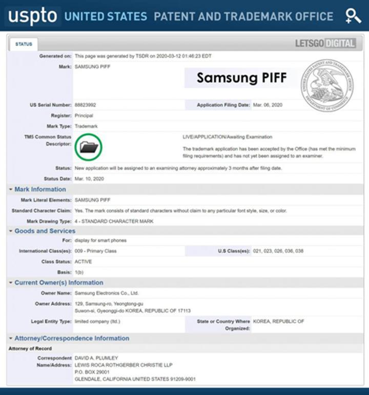 Samsung, AMOLED'in yerini alacak yeni ekran teknolojisini patentledi: Samsung PIFF
