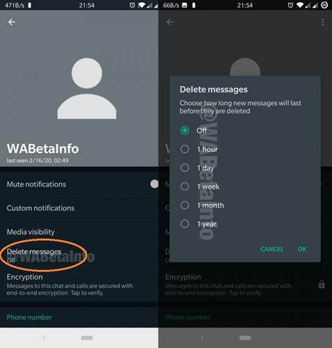 WhatsApp'ın kendini imha eden mesaj özelliği ufukta göründü