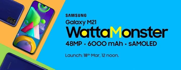 Samsung Galaxy M21'in teknik özellikleri ve basın görseli ortaya çıktı
