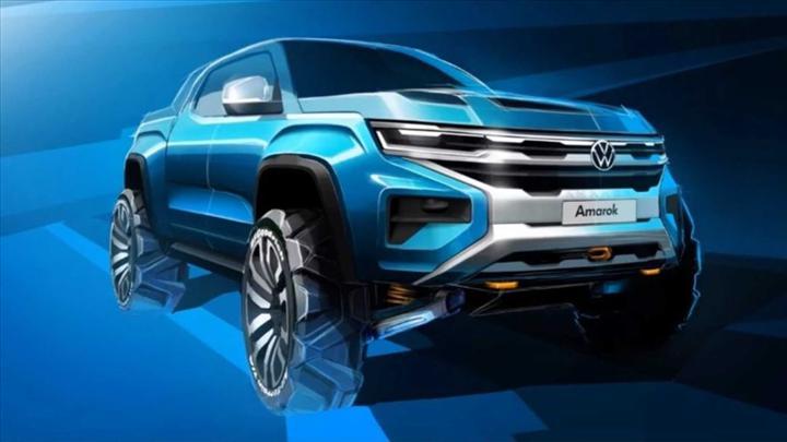 Yeni Volkswagen Amarok'un çizim görseli paylaşıldı