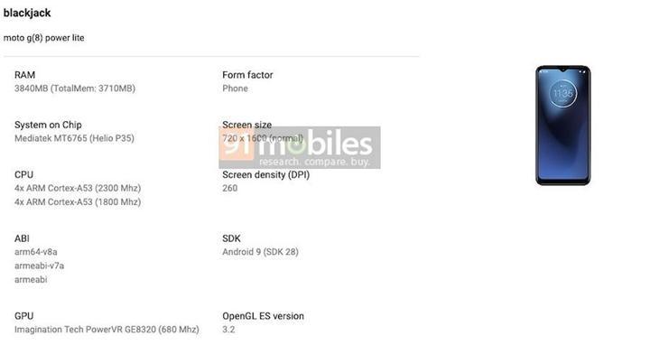Moto G8 Power Lite'ın özellikleri belli oldu