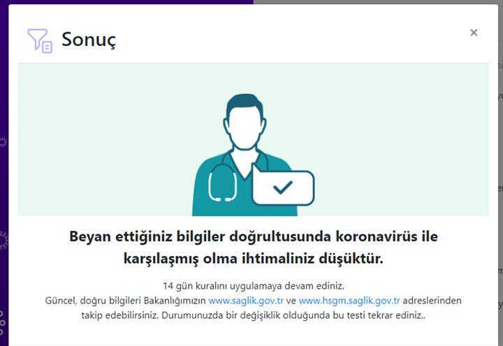 Online Koronavirüs testi başladı: Koronavirüs riskiniz var mı öğrenin