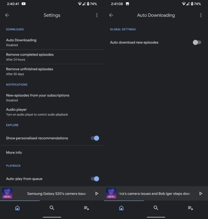 Google Podcasts tasarımı beklenen özelliklerle yenilendi