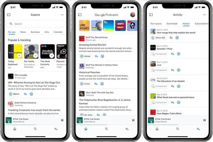 Google Podcasts uygulaması iOS'a geldi