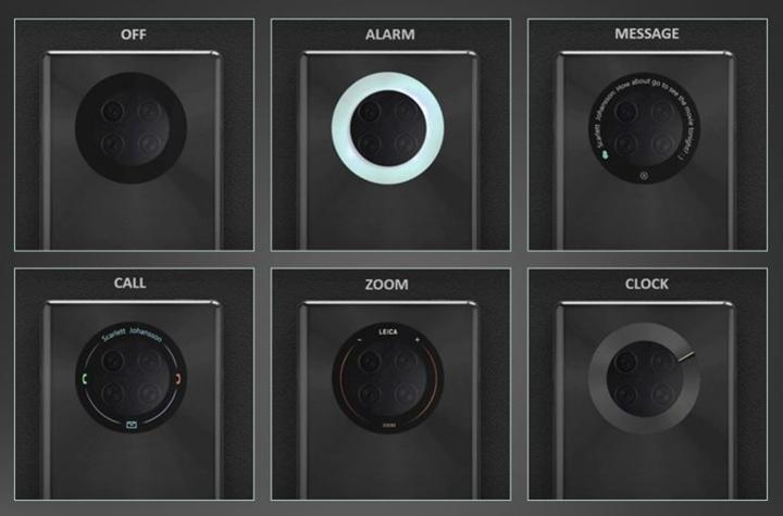 Huawei arka kameraya entegre, halka şeklinde dokunmatik ekran patenti aldı
