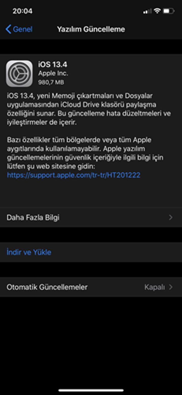 iOS&iPadOS 13.4 güncellemesi çıktı! İşte yenilikler
