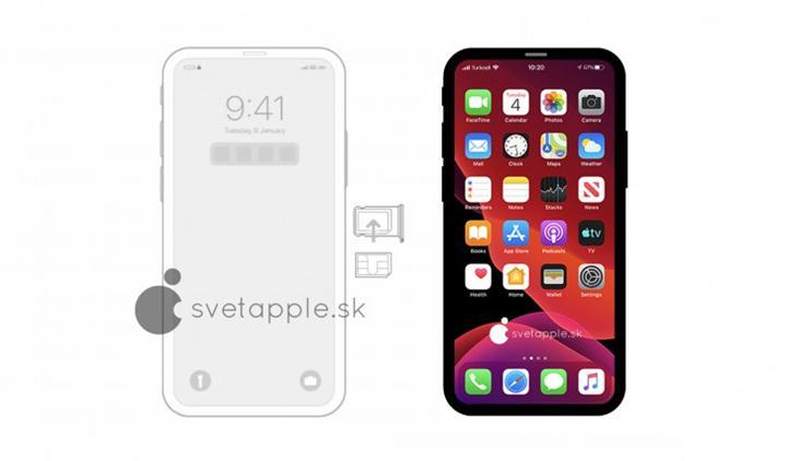 Çentiksiz iPhone 12'nin muhtemel tasarımı internete sızdı