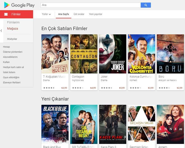 Google Play Filmler'de ücretsiz film izleme dönemi başlıyor