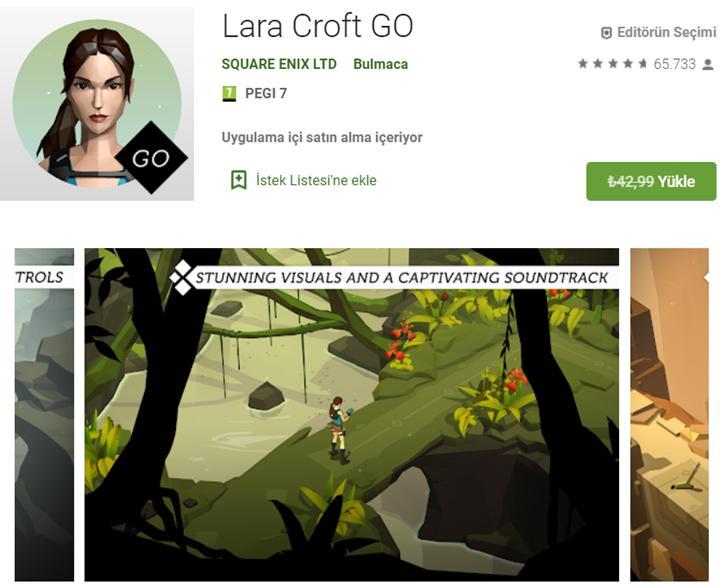 Lara Croft Go ve Monument Valley 2 kısa süreliğine ücretsiz