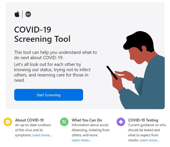 Apple, Koronavirüs semptomlarını belirlemeye yardımcı olacak web sitesini hizmete soktu
