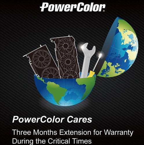 PowerColor ekran kartlarının garanti süresini 3 ay uzattı