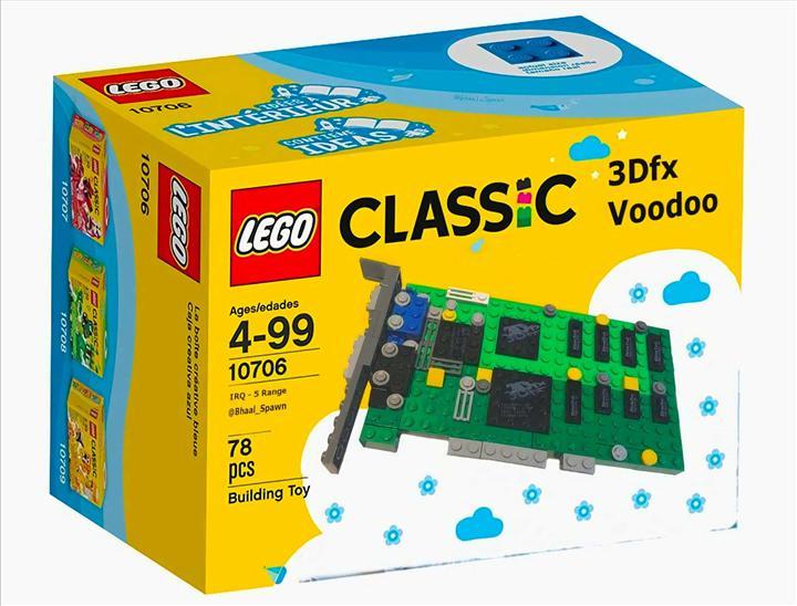 3Dfx Voodoo 3D grafik kartı LEGO ile canlanıyor