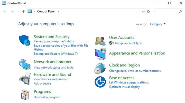 Denetim masası Windows 10'dan kaldırılabilir