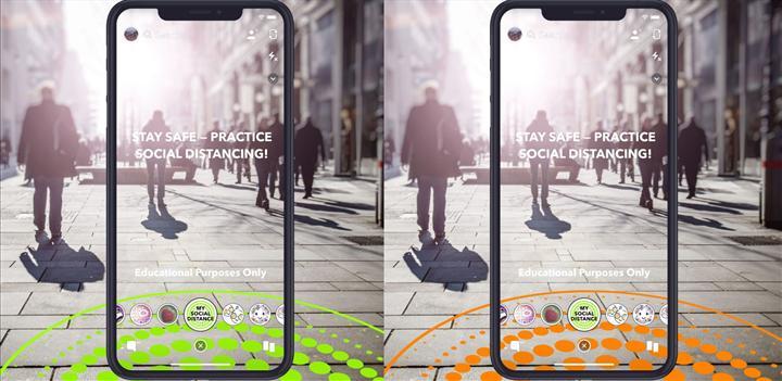 Yeni Snapchat filtreleri sosyal mesafenin önemine AR ile dikkat çekiyor
