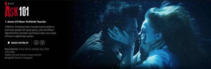 Netflix'in Türk yapımı yeni dizisi Aşk 101'in fragmanı yayınlandı