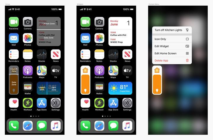 iOS 14 ile birlikte gelecek ana ekran widget'ları nasıl görünecek?