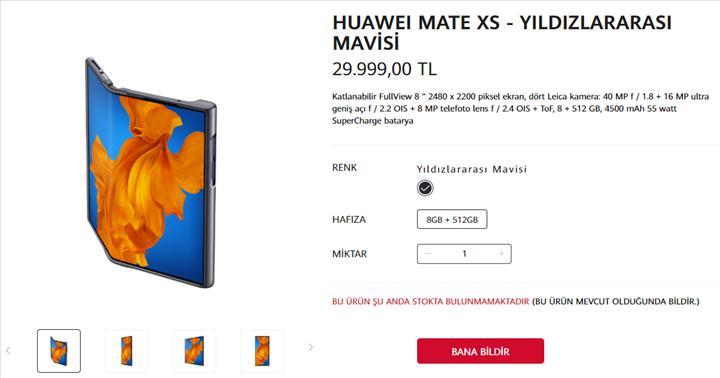 30 bin liraya satılan Huawei Mate Xs kısa sürede tükendi
