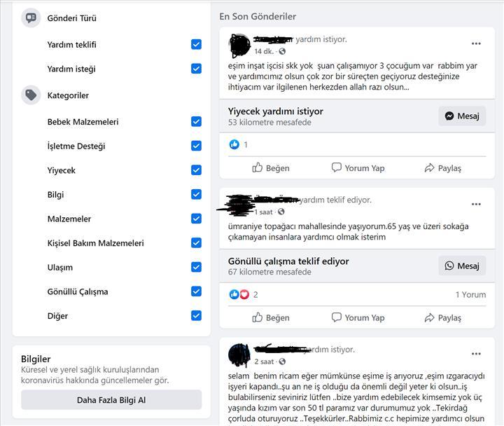 Facebook yardıma ihtiyacı olanlar ile yardımseverleri buluşturuyor