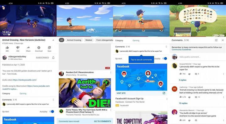 YouTube Android uygulaması, yorumları açıklamanın altına taşımayı test ediyor
