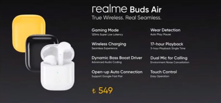 Realme Buds Air kablosuz kulaklığın Türkiye fiyatı belli oldu