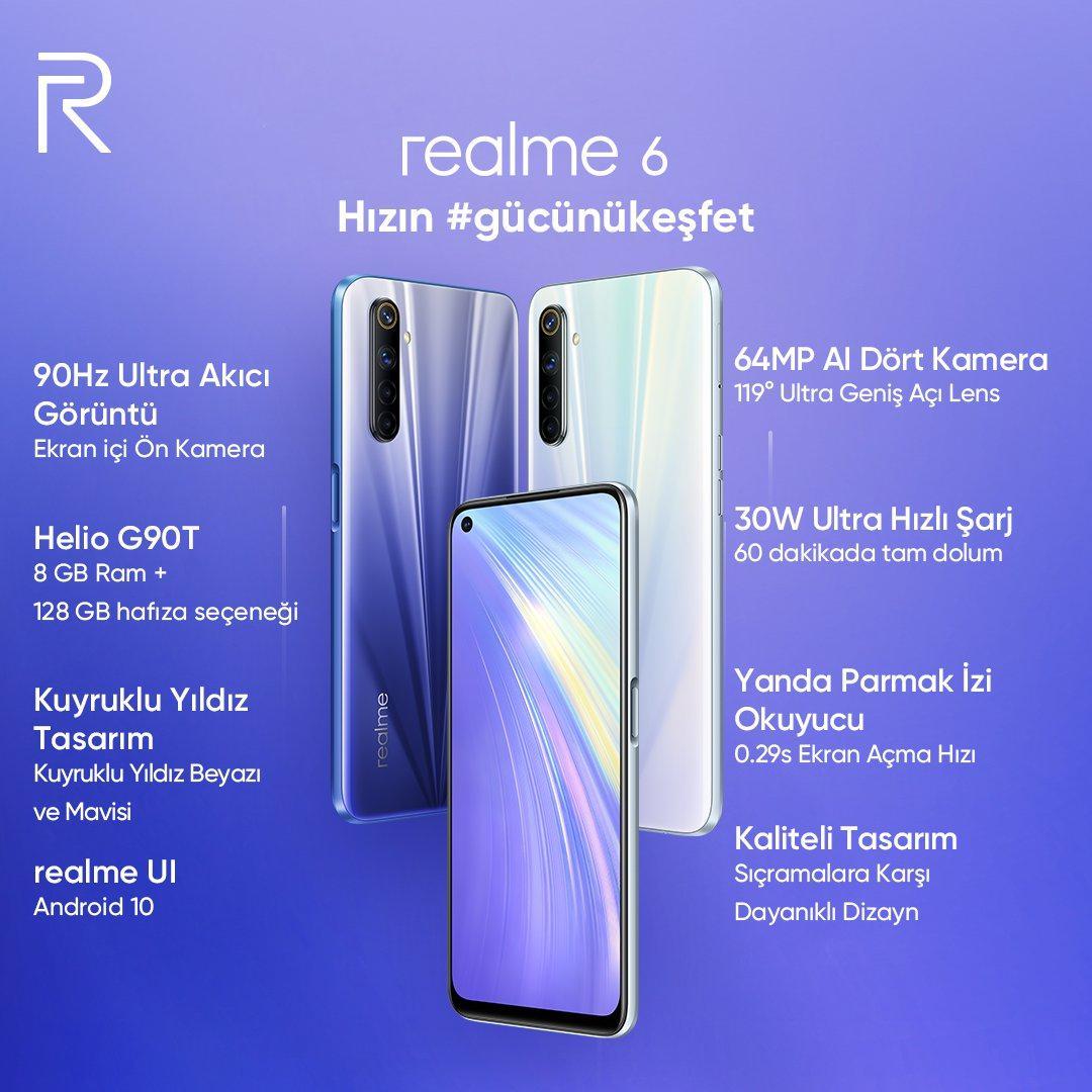 Realme 6, 6 Pro ve 6i'nin Türkiye fiyatları açıklandı