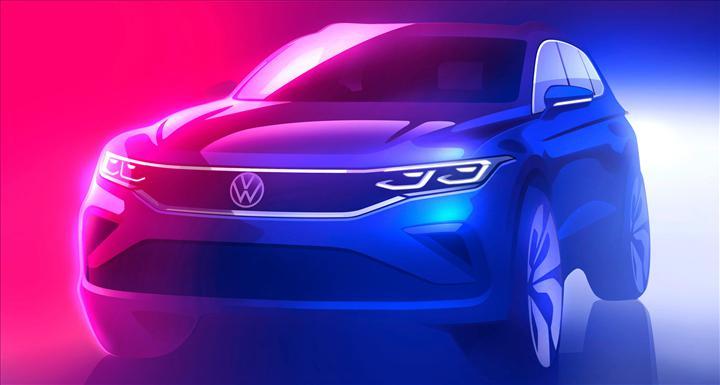 Makyajlı Volkswagen Tiguan'ın resmi çizim görseli paylaşıldı