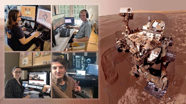 Curiosity keşif robotu ekibi, uzay aracını evden idare ediyor