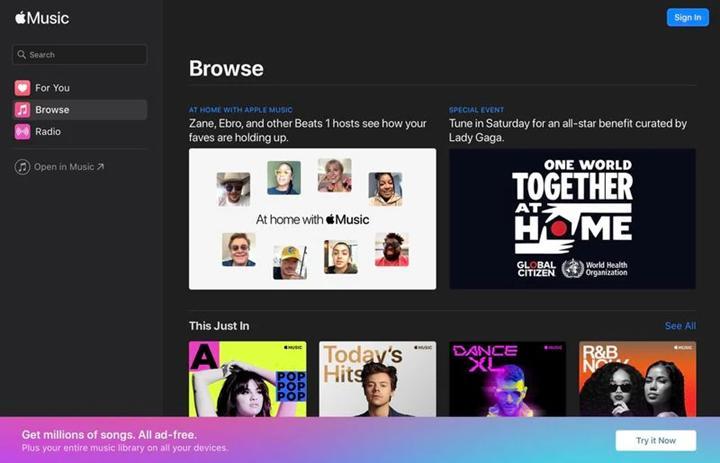 Apple Music'in web sürümü beta sürecinden çıktı
